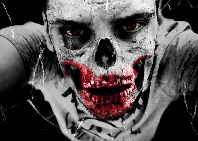 strašlivá zombie