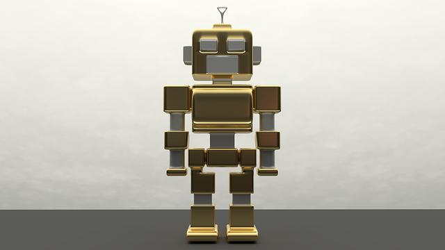 Zlato-strieborný kovový robot.png